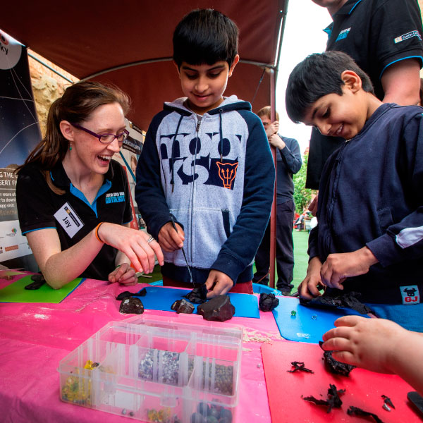 Jay-at-Fremantle-Earth-Science-Day-dissecting-meteorites
