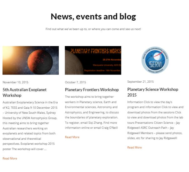 Updating website content, keeping fresh